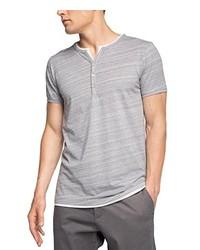 T-shirt à col boutonné gris Esprit
