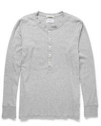 T-shirt à col boutonné gris Gant