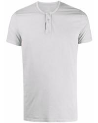 T-shirt à col boutonné gris Majestic Filatures
