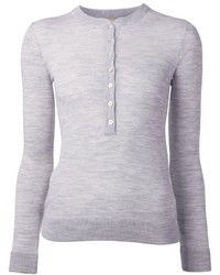 T-shirt à col boutonné gris Michael Kors