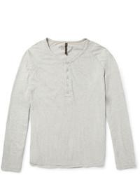 T-shirt à col boutonné gris Nudie Jeans
