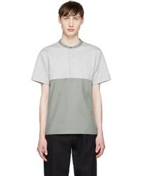 T-shirt à col boutonné gris Tim Coppens