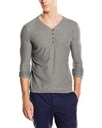 T-shirt à col boutonné gris Tom Tailor