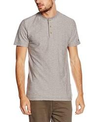 T-shirt à col boutonné gris Tommy Hilfiger