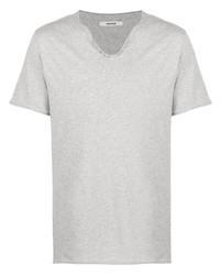 T-shirt à col boutonné gris Zadig & Voltaire