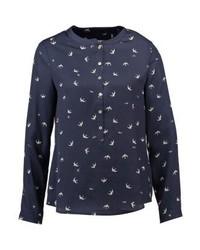 T-shirt à col boutonné imprimé bleu marine Esprit
