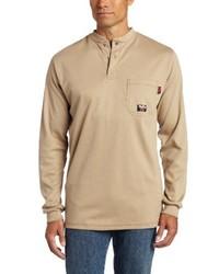 T-shirt à col boutonné marron clair