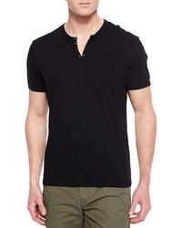 T shirt a col boutonne noir original 2599107