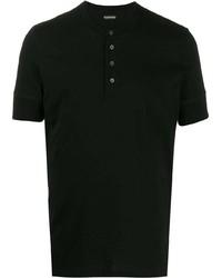T-shirt à col boutonné noir Tom Ford