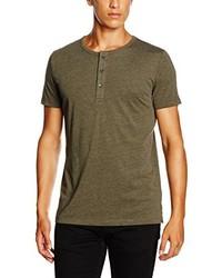 T-shirt à col boutonné olive Esprit