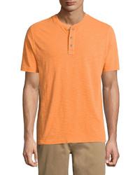 T-shirt à col boutonné orange