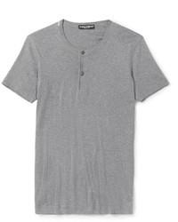 T-shirt à col boutonné