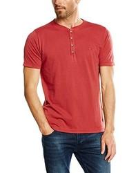 T-shirt à col boutonné rouge camel active