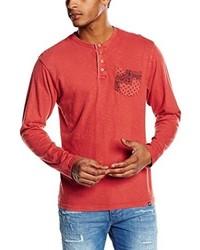T-shirt à col boutonné rouge Joe Browns
