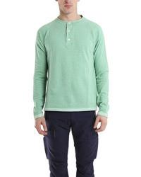 T-shirt à col boutonné vert menthe