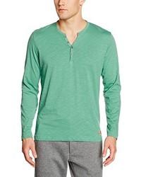 T-shirt à col boutonné vert menthe Tom Tailor