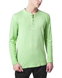 T-shirt à col boutonné vert menthe Urban Classics