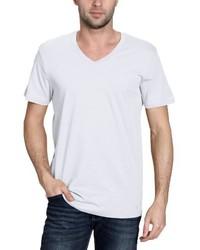 T-shirt à col en v blanc BLEND