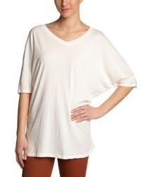 T-shirt à col en v blanc Bobi