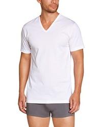 T-shirt à col en v blanc EMINENCE