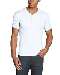 T-shirt à col en v blanc GARCIA