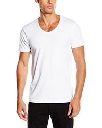 T-shirt à col en v blanc Jack & Jones