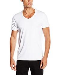 T-shirt à col en v blanc Jack & Jones