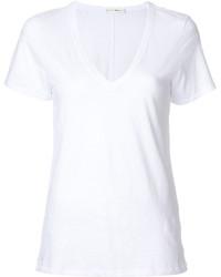 T-shirt à col en v blanc Rag & Bone