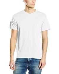 T-shirt à col en v blanc Stedman Apparel