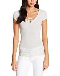 T-shirt à col en v blanc Tally Weijl