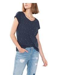 T-shirt à col en v bleu marine edc by Esprit