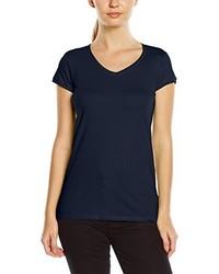T-shirt à col en v bleu marine Stedman Apparel