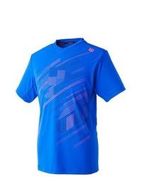 T-shirt à col en v bleu Wilson