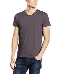 T-shirt à col en v gris foncé Stedman Apparel