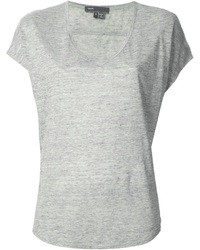 T shirt a col en v gris original 1308795
