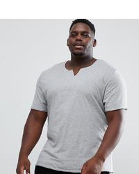 T-shirt à col en v gris ASOS DESIGN