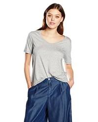 T-shirt à col en v gris BOSS ORANGE