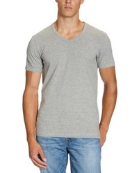 T-shirt à col en v gris Jack & Jones