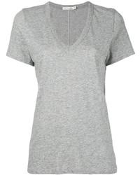 T-shirt à col en v gris Rag & Bone