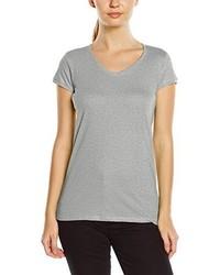 T-shirt à col en v gris Stedman Apparel