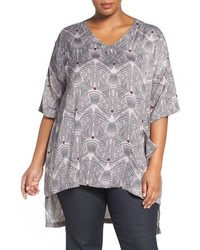 T shirt a col en v imprime original 4199018