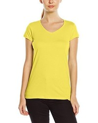 T-shirt à col en v jaune Stedman Apparel