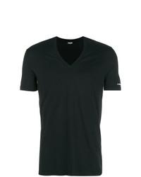 T-shirt à col en v noir DSQUARED2