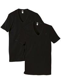 T-shirt à col en v noir G-Star RAW