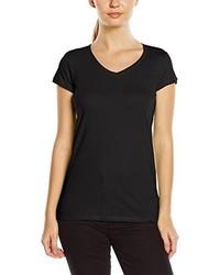 T-shirt à col en v noir Stedman Apparel