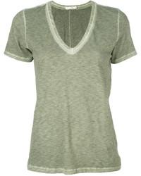 T-shirt à col en v olive Rag & Bone