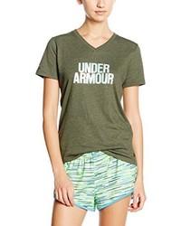 T-shirt à col en v olive Under Armour
