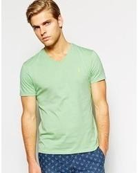 T-shirt à col en v vert menthe Polo Ralph Lauren