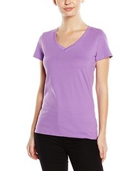 T-shirt à col en v violet clair Stedman Apparel