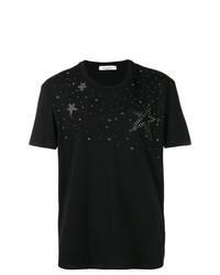 T-shirt à col rond à clous noir Valentino
